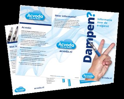 Download via deze link de informatieflyer van Acvoda, versie 2 (april 2015) om zelf uit te printen.