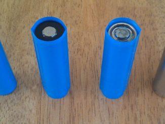 Li Ion batterijen met en zonder wrap